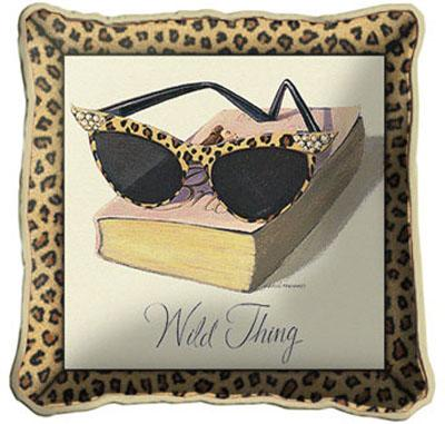 Wild Thing Contemporary Tapestry Cushion - Fashion Design, 17in x 17in