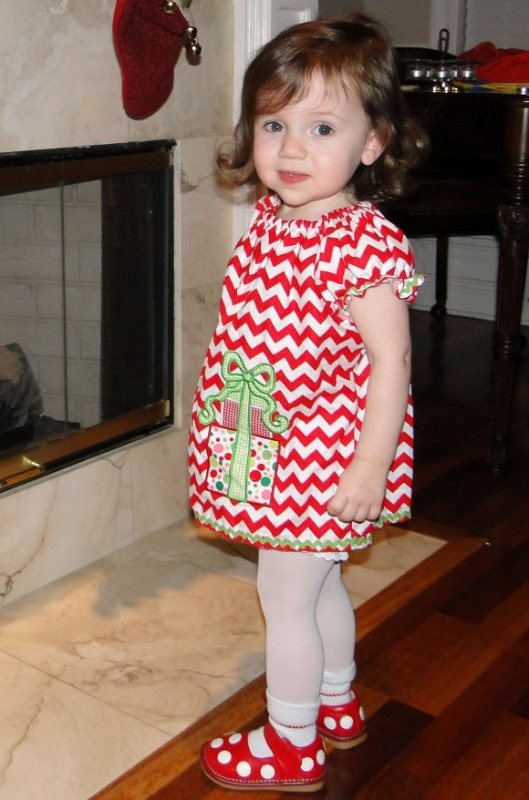 Chevron Xmas Presents Dress