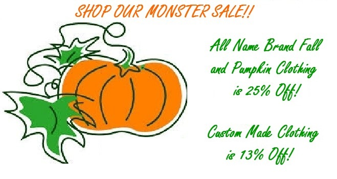 Pumpkin fall clothing sale!