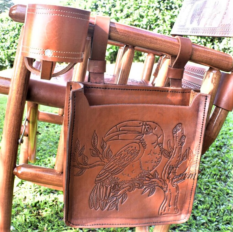 Leather & Magazine Satchel for Costa Rica Rocking Chair