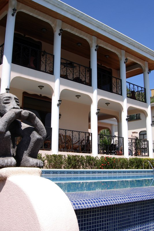 Front of Villa with pool.