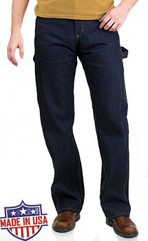 Round House American Made Work Dungarees - Rigid