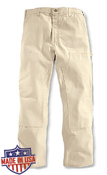 Roundhouse American Made Duck Double Front dungarees - Natural