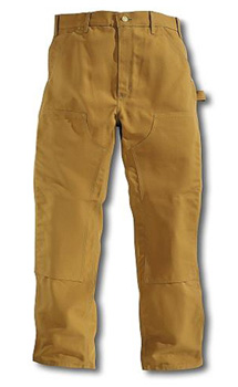 Round House American Made Double Front dungarees - Brown Duck