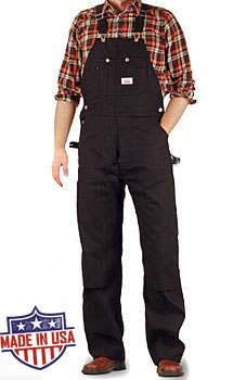 Round House American Made Heavy Duty Duck overalls - Black Duck