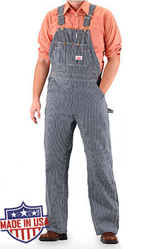 Round House American Made Bib overalls - Vintage Stripe