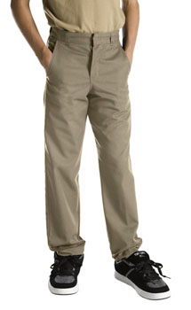 School uniforms - Dickies Boys 8-20 Husky Plain Front pants