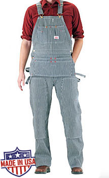 Round House American Made Carpenter overalls - Hickory Stripe