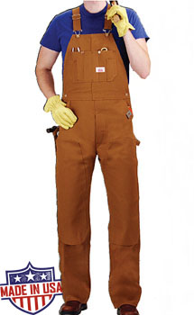 Roundhouse American Made Heavy Duty Duck Bib overalls - Brown Duck
