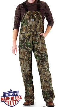 Roundhouse American Made Camouflage Bib overall - Realtree