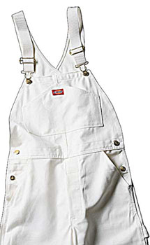 Dickies Painters Bib Overalls - White