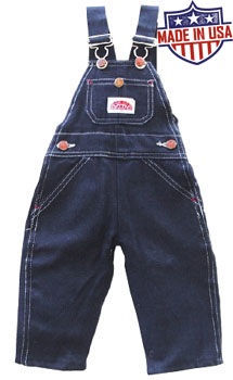 Round House American Made Youth 8-18 overalls - Blue Denim