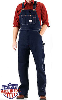 Round House American Made Low Back overalls - Rigid Blue