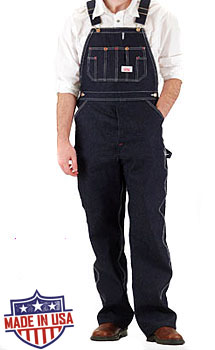 Roundhouse American Made Bib overalls - Rigid Blue