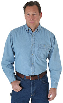 Wrangler Rugged Wear Denim Basic shirt