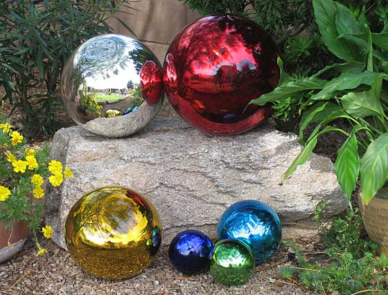 Glass Gazing Balls From Mexico