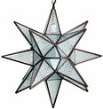 Maya Frosted Glass Hanging Star Light 20