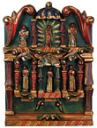 Mexican Hand Carved and Painted Retablo
