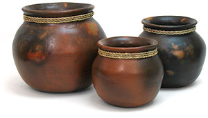 Mexican Terra Cotta Rope Pots