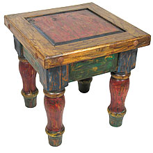 Painted Wood Mexican Table