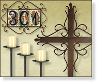 Wrought Iron Rustic Home Accessories
