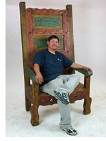 Large Mexican Throne Chair