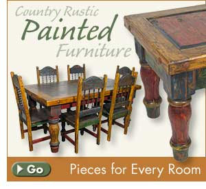 Mexican Rustic Painted Furniture