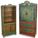 mexican painted wood rustic furniture image