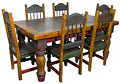 Rustic painted dining furniture