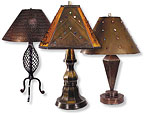 See Our Handcrafted Tin And Wrought Iron Lamps. Weu0027ve Selected The Perfect  Shades To Go With These Unique Rustic Tin And Iron Lamps.