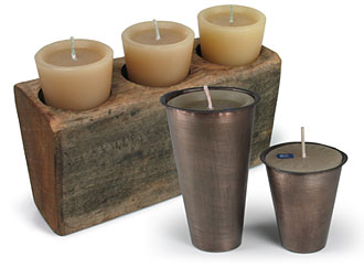 Rustic sugarmold candle holders