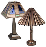 Rustic Tin Table Lamps