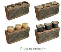 6 hole sugarmold candle holder