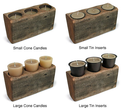 Sugarmold candles and tin inserts guide