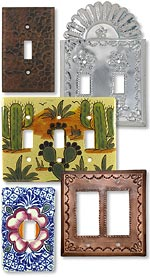 Mexican Switchplates - Tin, Talavera and Copper