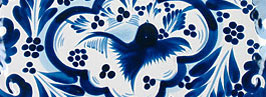 Blue & White Talavera Pattern