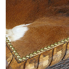 Western cowhide furniture for rustic decor