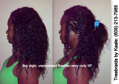 Tree Braids by Kaale- individual treebraids with unprocessed Brazilian curly remy hair salesL092013.
