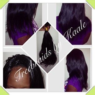 Tree Braids by Kaale- traditional cornrow treebraids done very small shows crown area and remy hair used42815.