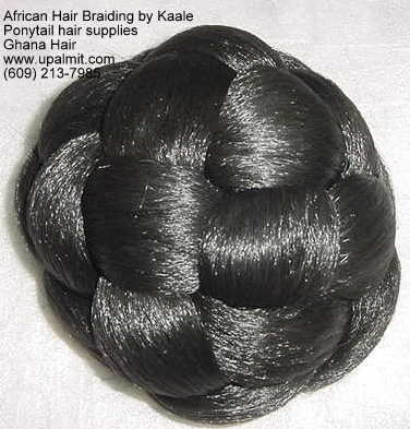 Ponytails hair attachments, braided bun ponytails.