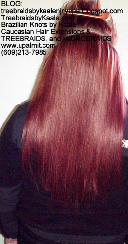 Track hair extensions- long straight hairBack55.