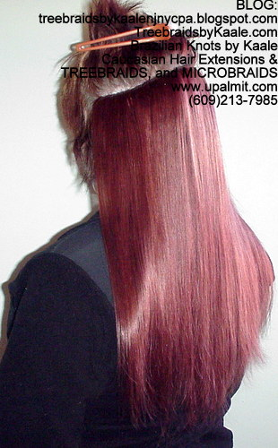 Track hair extensions- long straight hairLeft56.