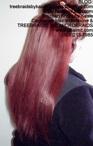 track hair extensions using color #33 for our Caucasian client.