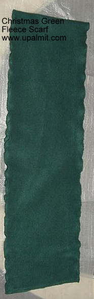 Christmas-Green fleece scarf 60