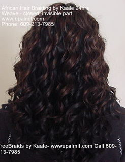 Weaves- Track hair extensions- closed parts for a natural closer look.