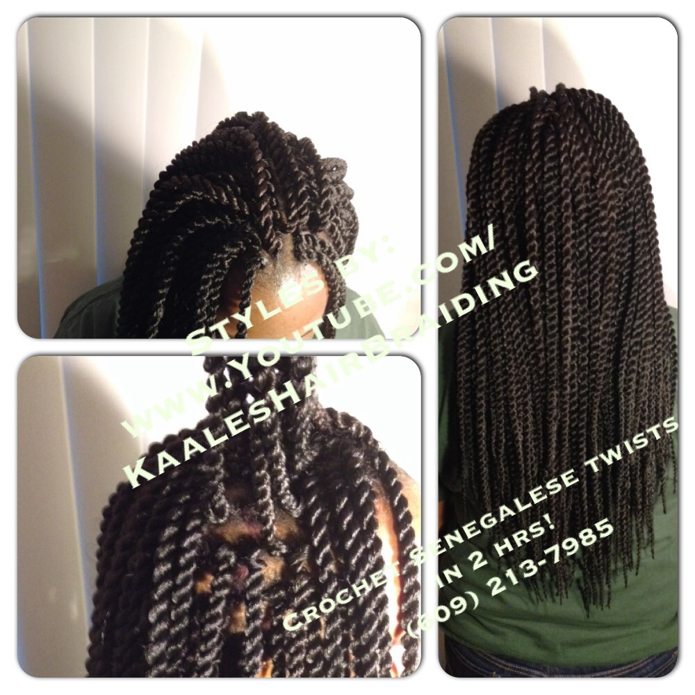Crochet Braids -Senegalese twists $65 in Central New Jersey by Kaale.