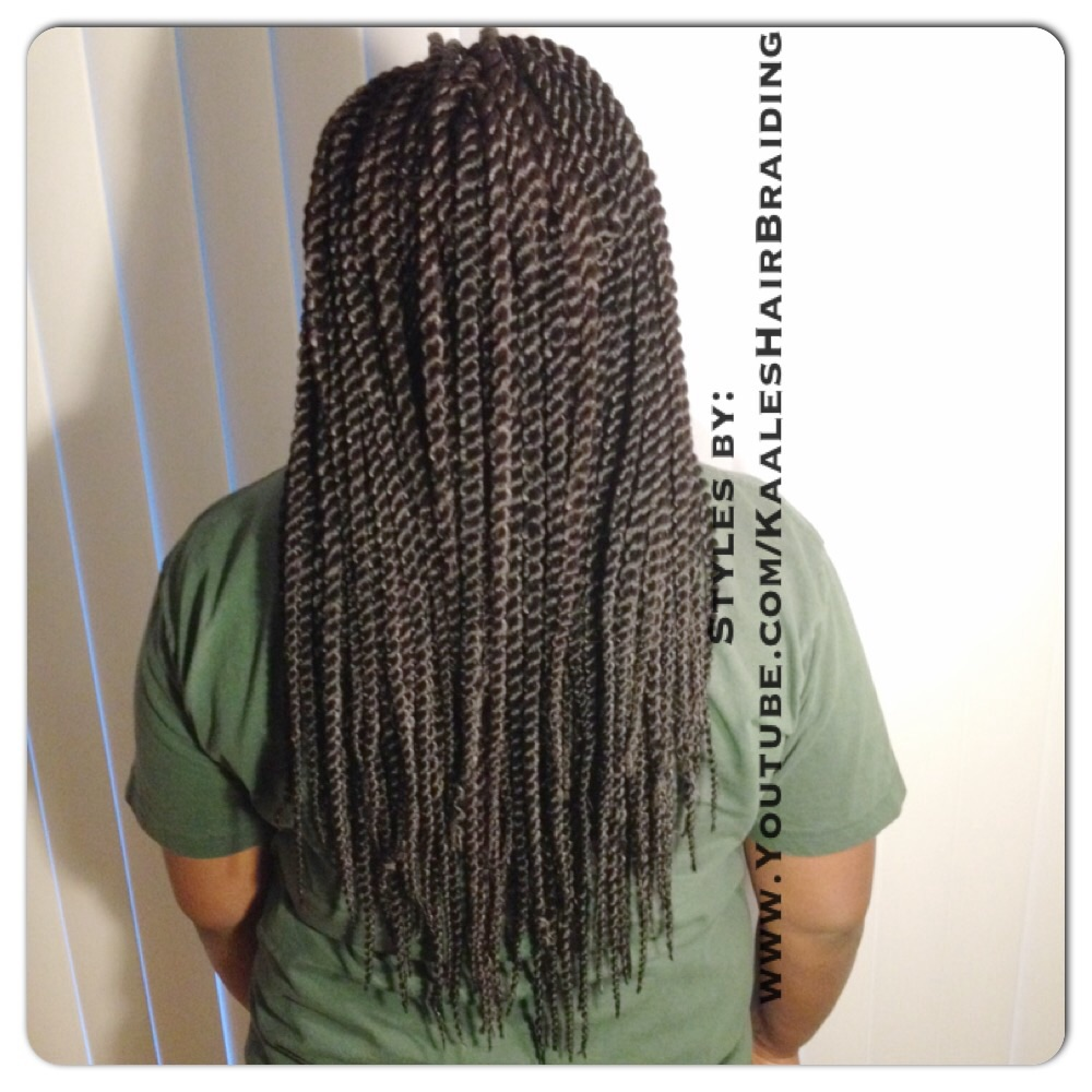 Crochet Braids -Senegalese twists inn Central New Jersey by Kaale- back view.
