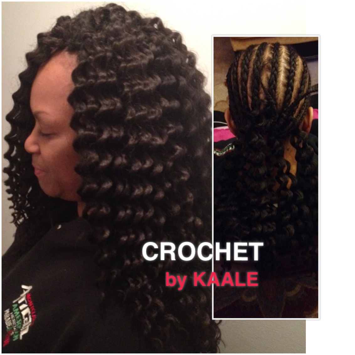 Tree Braids by Kaale- crochet braids using loose hair 2.