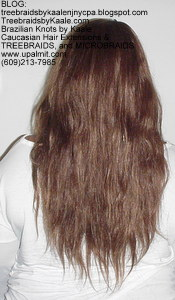 Track hair extensions- natural straight real hair Back57.