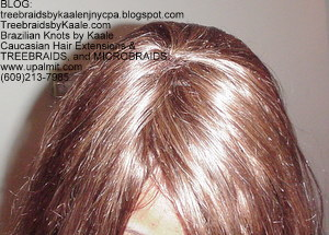 Track hair extensions- natural straight real hair CrownTop58.